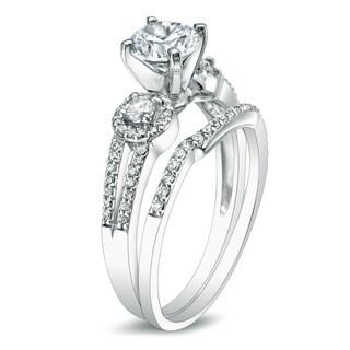 Auriya 14k Gold 1ct TDW Round Diamond Bridal Ring Set (G-H, I1-I2)