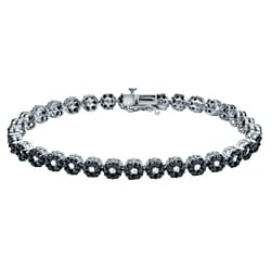 Auriya 14k Gold 4 1/2ct TDW Black and White Diamond Bracelet (G-H, I2-I3)