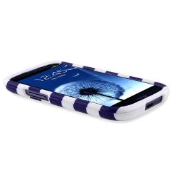 Blue Stripe Snap-on Case for Samsung Galaxy S III