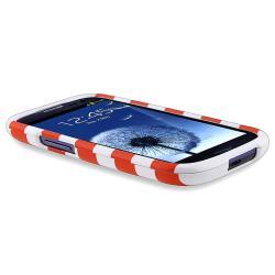 Orange Stripe Snap-on Case for Samsung Galaxy S III