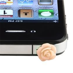 INSTEN Pink Rose Headset Dust Cap for Apple iPod/ iPad/ iPhone 4S/ 5S/ 6