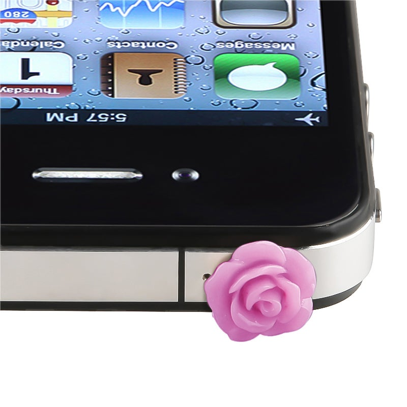 INSTEN Rose Headset Dust Cap for Apple iPhone 4/ 4S/5/ 5S/ 6/ iPod
