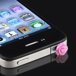 Purple Rose Headset Dust Cap for Apple iPhone/ iPad