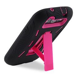 Hot Pink/ Black Hybrid Case with Stand for Samsung Galaxy S III