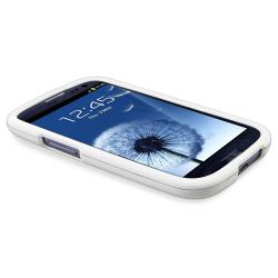 White Snap-on Rubber Coated Case for Samsung Galaxy S III