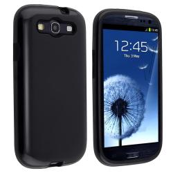 Black/ Black Hybrid Case for Samsung Galaxy S III