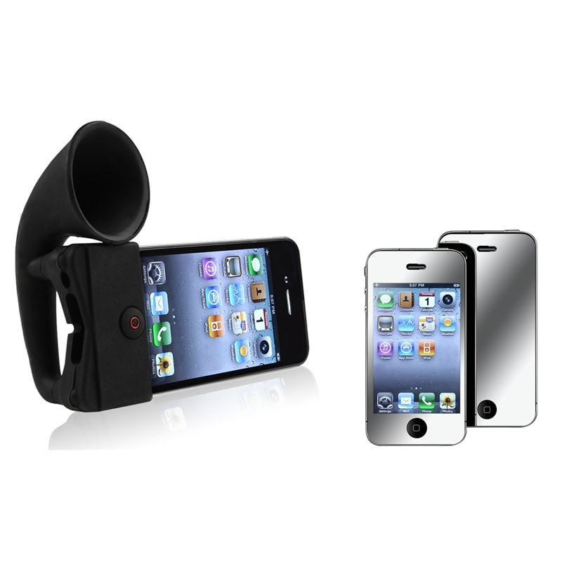 Stand Speaker/ Mirror Screen Protector for Apple® iPhone 4/ 4S