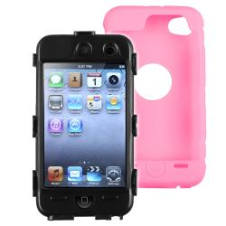 Black/ Pink Case/ Screen Protector for Apple� iPod Touch Generation 4