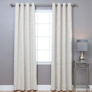 Aurora Home Grommet Top Blackout 84-inch Curtain Panel Pair