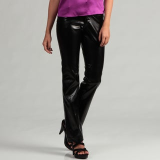 Eye Candy Women's Black Pleather Pants