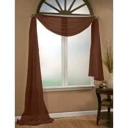 Infinity Sheer Window Scarf Valance