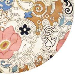 Herat Oriental Indo Hand-tufted Tibetan Ivory/ Olive Wool Rug (6' x 6')