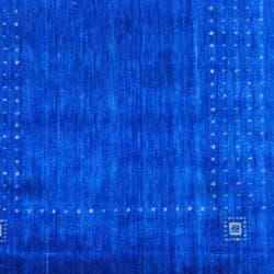 Herat Oriental Indo Hand-loomed Blue/ Beige Gabbeh Wool Rug (2' x 3')