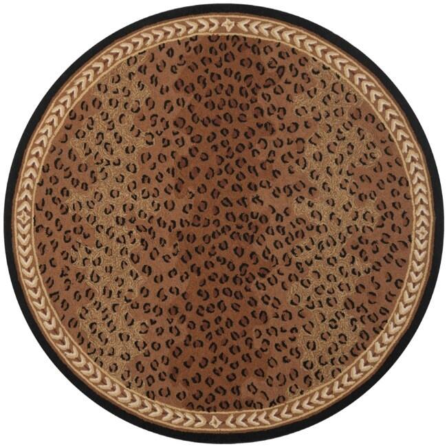 Safavieh Hand-hooked Chelsea Leopard Brown Wool Rug (8