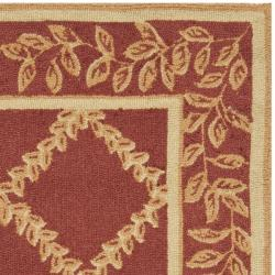 Safavieh Hand-hooked Trellis Rust/ Beige Wool Rug (2'9 x 4'9)