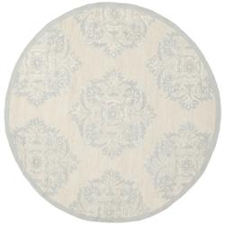 Hand-hooked Chelsea Ivory Wool Rug (4' Round)