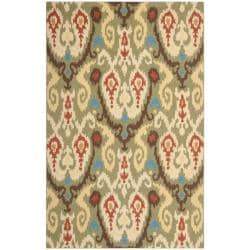 "Safavieh Large Hand-Hooked Chelsea Green Wool Rug (7'6"" x 9'9"")"