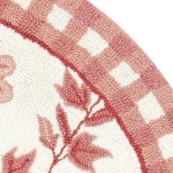 Safavieh Hand-hooked Bumblebee Ivory/ Rose Wool Rug (4' Round)