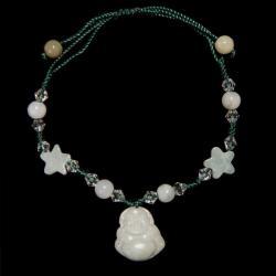 Jade Bracelet with Happy Buddha Charm (China)