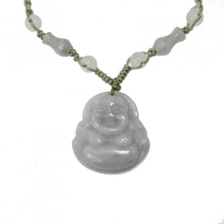Happy Buddha Jade Necklace (China)