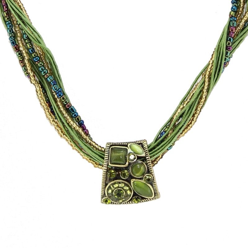 Multiple Strings Cat's Eye Stone Necklace (China)