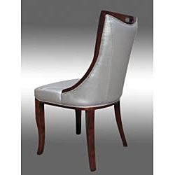 Lexington Silver Leather Dining Chairs (Set of 2)