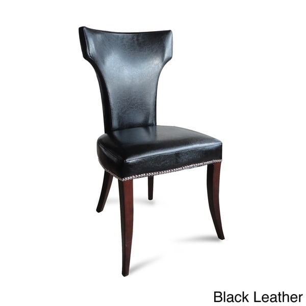 Klismos Leather Dining Chairs (Set of 2)