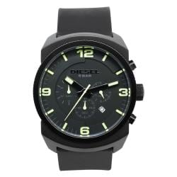 Diesel Men's Classic Black Silicone Watch