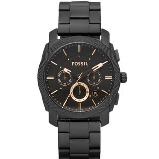 Fossil Men's FS4682 Machine Black Steel Watch