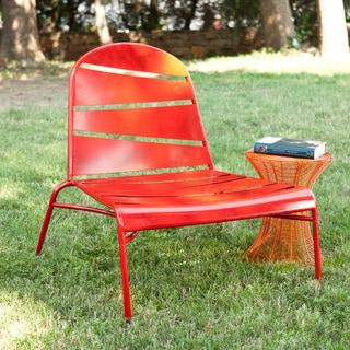 Indoor/ Outdoor Red Lounge Chair