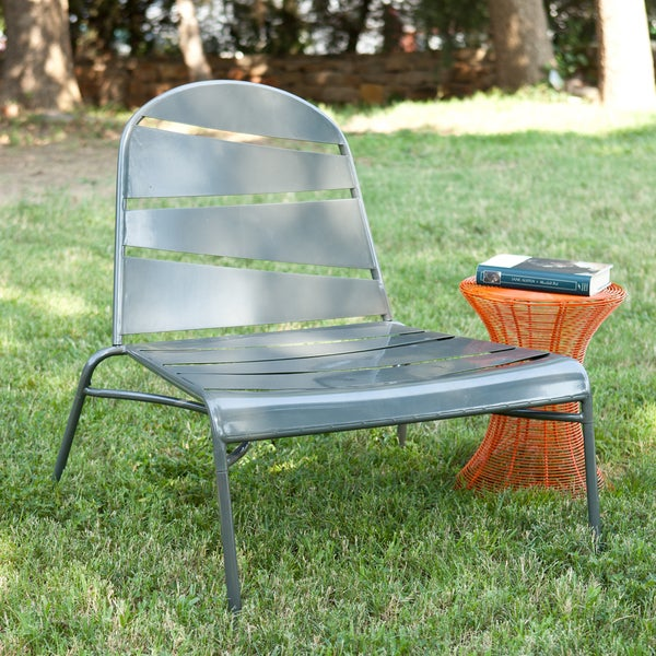 Silver Indoor/ Outdoor Lounge Chair