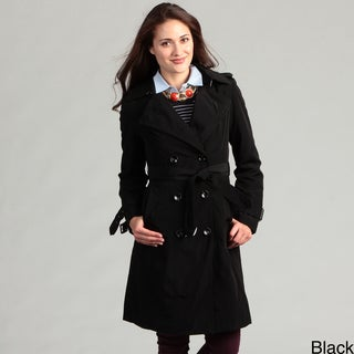 London Fog Women's Double-breasted Raincoat