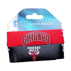 Chicago Bulls Rubber Wrist Band (Set of 2) NBA