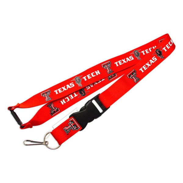 Texas Tech Raiders Clip Lanyard Keychain Id Holder Red