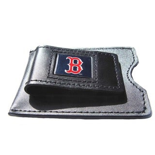 MLB Leather Money Clip Card Holder