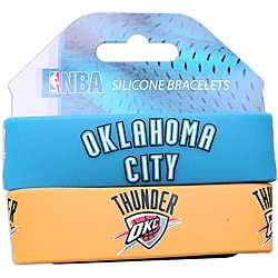 Oklahama City Thunder Wrist Band (Set of 2) NBA