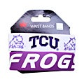 TCU Horned Frogs Rubber Wrist Band (Set of 2) NCAA