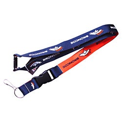 Denver Broncos Reversible Lanyard Keychain Ticket ID Holder