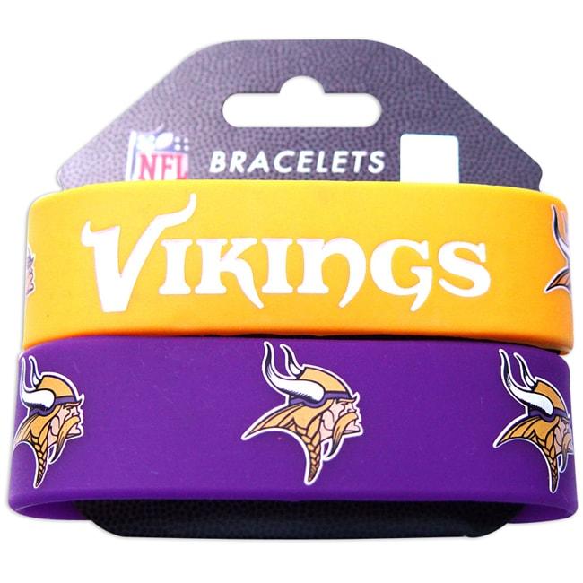 Minnesota Vikings Rubber Wrist Band (Set of 2)