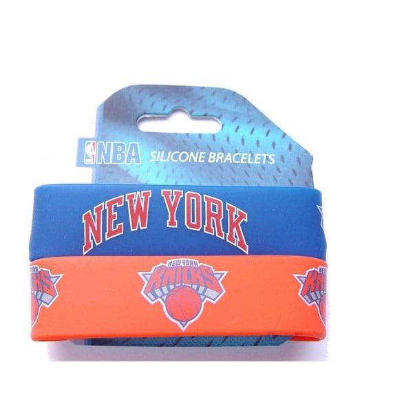 New York Knicks Rubber Wrist Bands (Set of 2) NBA