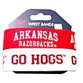 Arkansas Razorbacks Rubber Wrist Bands (Set of 2) NCAA