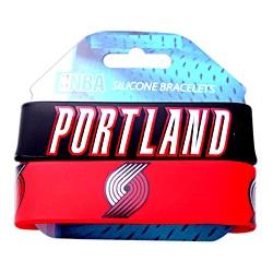 Portland Trail Blazers Rubber Wrist Band (Set of 2) NBA