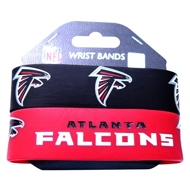 Atlanta Falcons Rubber Wrist Band (Set of 2) NFL