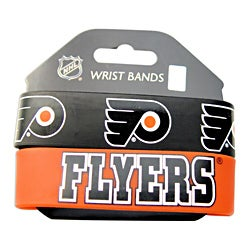Philladelphia Flyers Rubber Wrist Band (Set of 2) NHL