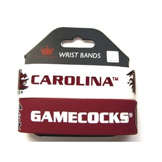 South Carolina Gamecocks Rubber Wrist Band (Set of 2) NCAA
