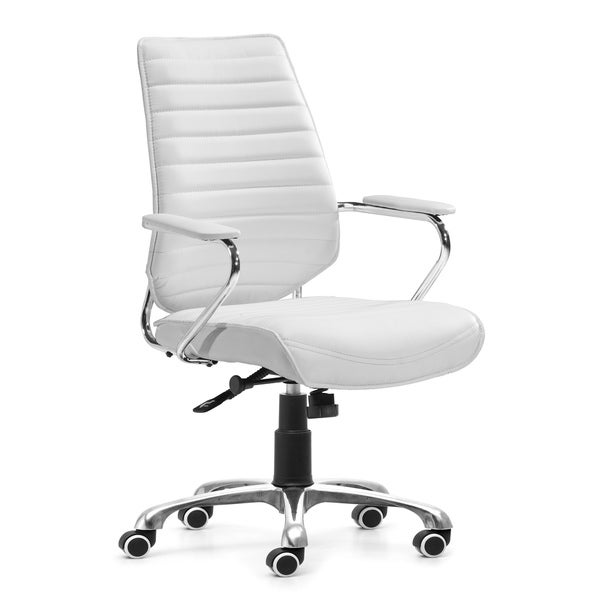Enterprise Low Back White Office Chair