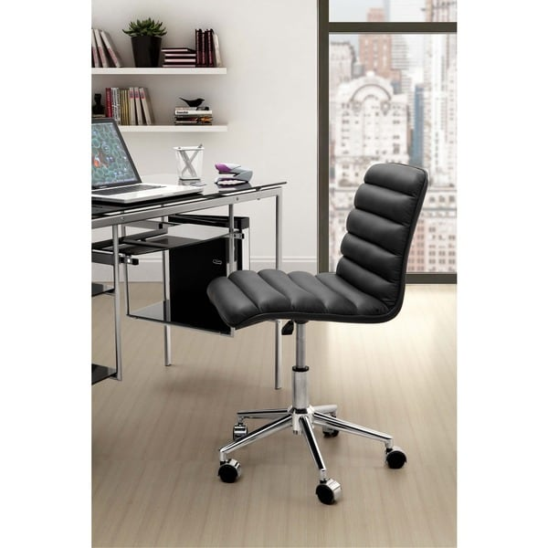 Zuo Admire Black Leatherette Office Chair