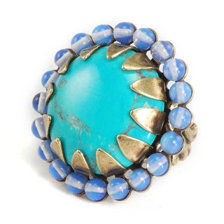 Sweet Romance Turquoise Agate Stone Ring