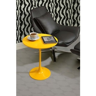 Zuo Wilco Yellow Side Table