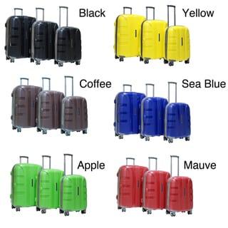Calpak Rapture 3-piece Lightweight Polypropylene Hardside Spinner Luggage Set